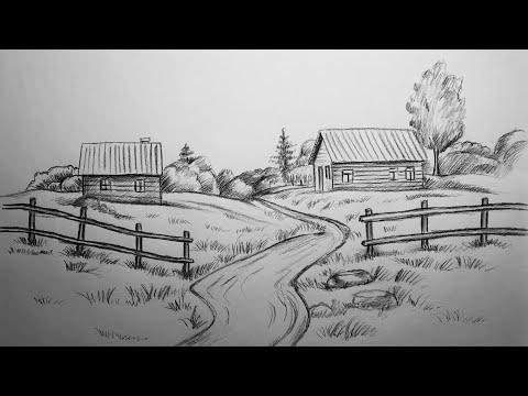 Manzara Çizimi Karakalem Nasıl Yapılır   Karakalem Manzara Çizimi Kolay