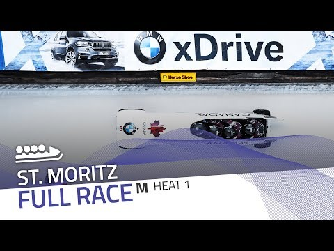 St. Moritz | BMW IBSF World Cup 2017/2018 - 4-Man Bobsleigh Heat 1 | IBSF Official