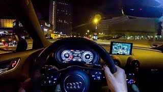 2018 Audi RS3 Sportback NIGHT POV DRIVE - Nice 5 Cylinder Sounds! - ///Lets Drive///
