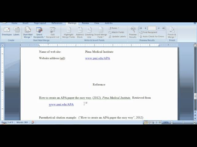 how to reference a website apa format In-text citations (how to cite within your paper) apa style-references page apa style is a difficult citation format for first-time learners (jones.