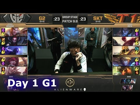 G2 eSports vs SK Telecom T1 | LoL MSI 2019 Group Stage Day 1 | G2 vs SKT