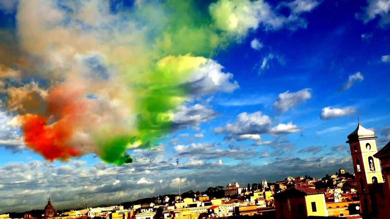 Frecce Tricolori Su Roma 4 Novembre 2013 Youtube