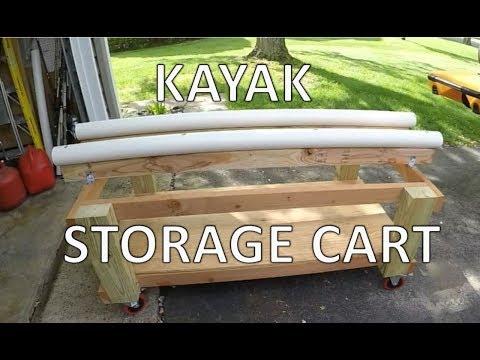 Kayak Storage Cart Build - DIY Kayak Cart