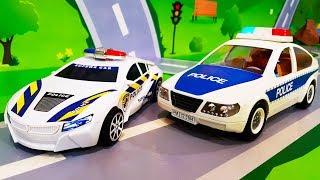 Мультики про машинки. Полицейские машинки – Видео игра и Опасная погоня. Мультфильмы для детей