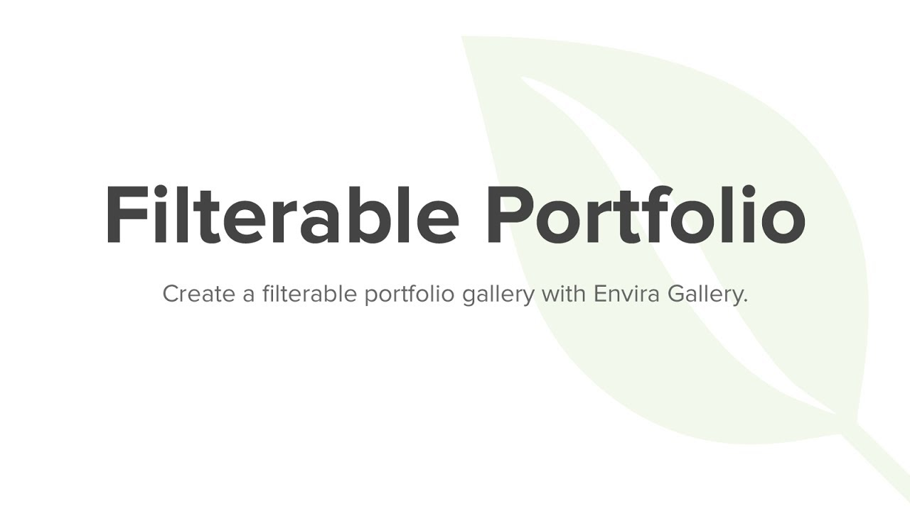 How to Create a Filterable Portfolio in WordPress