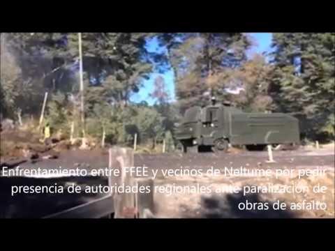 Enfrentamiento entre FFEE y vecinos de Neltume