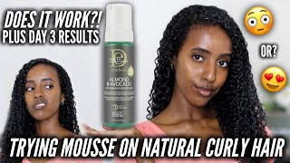 FIRST TIME TRYING MOUSSE!!...Design Essentials Curl Enhancing Mousse on Natural Hair | Lydia Tefera
