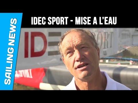 Maxi trimaran IDEC Sport - Mise à l'eau
