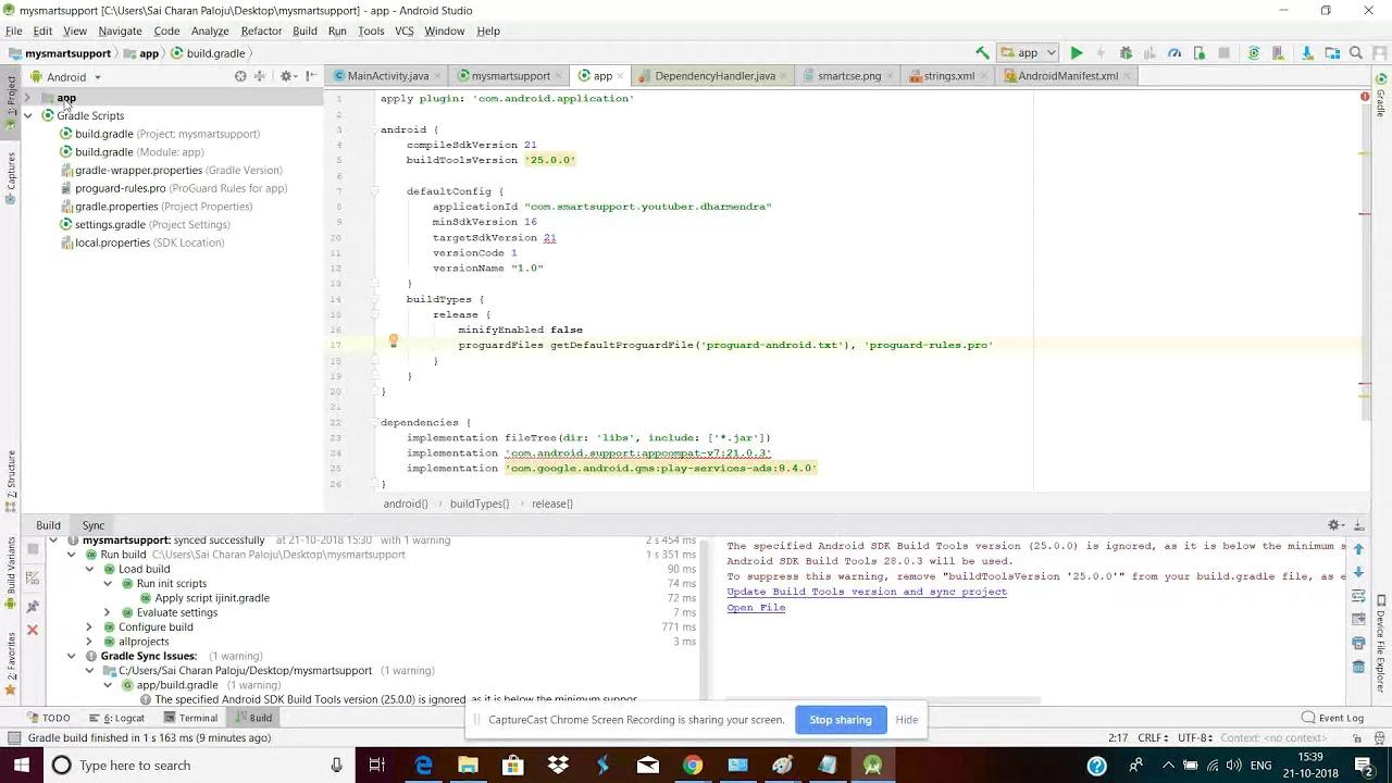 sdk build tools 21.1.1