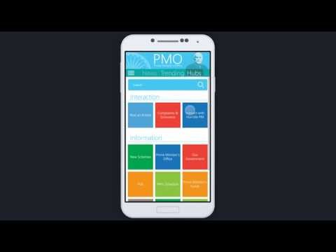 App concept for the Prime Minister's Office (PMO) India.