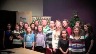 members of the haviland middle school chorus holiday concert series