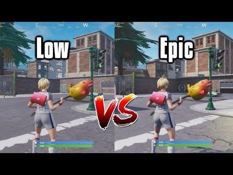 Ultimate Fortnite Settings Guide - Low Vs Epic Settings Comparison