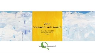 Vermont Arts Council 2016 Governor