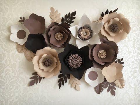 видео: Цветы из бумаги. Шаблоны лепестков\ templates for paper flowers