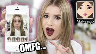 MAKEUP REMOVING APP TESTED! Does it Work?!