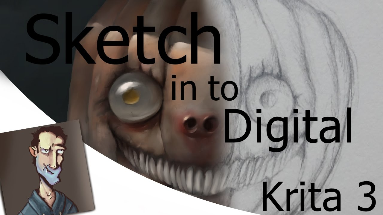 How To Turn Pencil Sketch In To Digital Painting In Krita 3 201611
