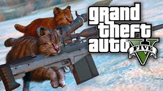GTA 5 MODS - CATS WITH GUNS! (GTA 5 Online PC Mods)
