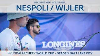 Mauro Nespoli v Steve Wijler recurve men 39 s gold Salt Lake 2018 Hyundai Archery World Cup S3