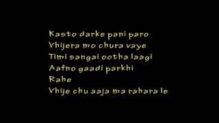 Bipul Chettri Syndicate Track Karaoke Lyrics Video Instrumental YouTube