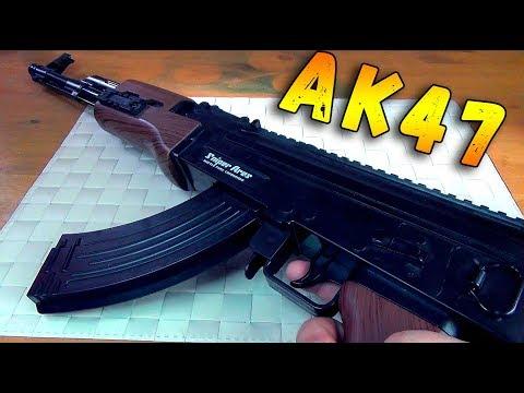 КАЛАШ - Автомат Калашникова стреляющий шариками ОРБИЗ - Детское оружие АК 47