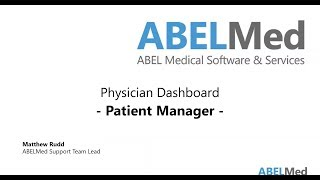 Physician Dashboard - Patient Manager