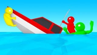 ESCAPE The SINKING SHIP To WIN! (Gang Beasts)