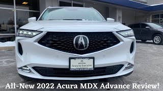 ALL-NEW 2022 ACURA MDX ADVANCE - IN-DEPTH REVIEW, WALKAROUND AND POV TEST DRIVE!