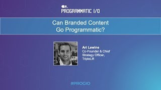 Can Branded Content Go Programmatic?