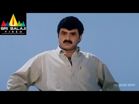 Palanati Brahmanaidu Movie Train Scene | Bala Krishna, Sonali Bendre | Sri Balaji Video