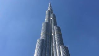 Dubai burj khalifa timelapse and slow motion