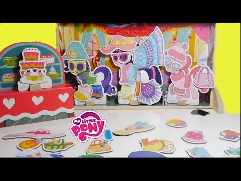 لعبة البيت - قصر ماي ليتل بوني ألعاب بنات و تلبيس 72 قطعة ! My Little Pony Magnet