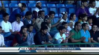 unmukt chand's brilliant inning against himachal in vijay hazare trophy 2017
