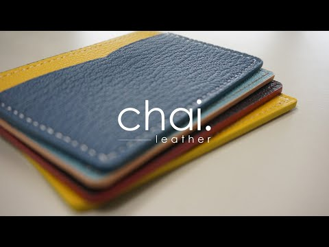 ENG_SUB/colorful card wallet/알록달록 카드지갑_making video_leather craft/가죽공예