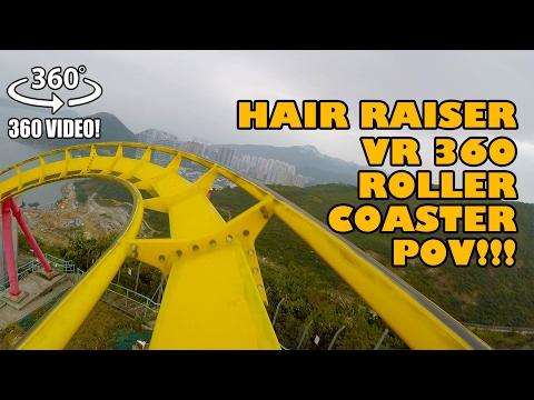 Hair Raiser 360 VR Roller Coaster POV Ocean Park Hong Kong