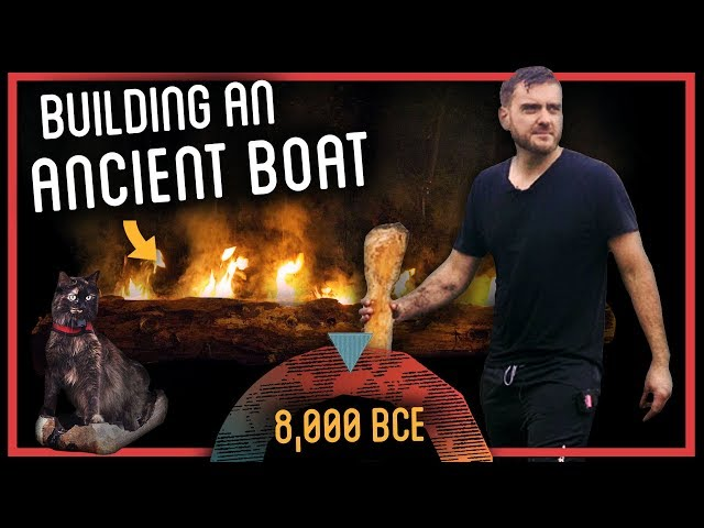 Making a Stone Age Dugout Boat with Fire