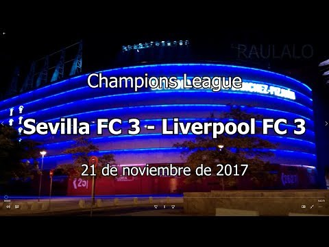 Sevilla FC 3 - Liverpool 3 Champions League 21/11/2017