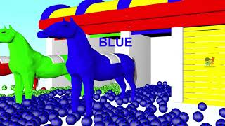 #Learn Colors for Kids with Colors #Horse and Soccer Ball  #3d Balls