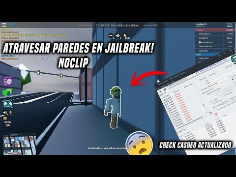 ★HACK PARA ATRAVESAR PAREDES EN JAILBREAK ROBLOX | NOCLIP *CHEAT ENGINE*★ 2018