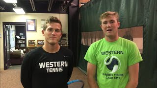Parma Western dual-sport seniors Jon Shaw and Cam Blakemore talk tennis and soccer