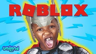 Daxton is an Avenger??? | Playing Thor in Roblox: Superhero Tycoon | UniLand Kids