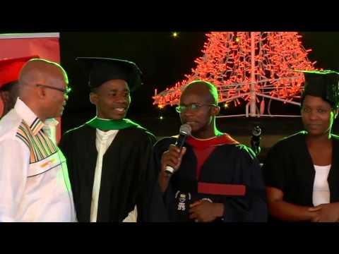 Graduates at the Jacob G Zuma RDP Education Trust Christmas Party