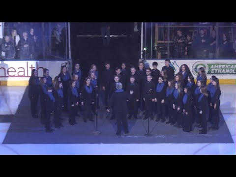 Lucile Erwin Middle School sings the Star Spangled Banner