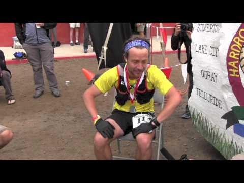 Adam Campbell Finishing the 2014 Hardrock 100