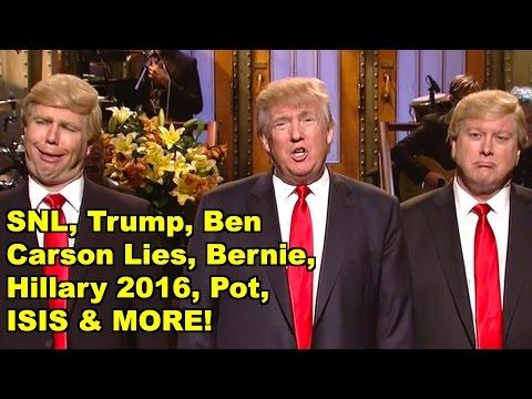 SNL, Trump, Hillary, Bernie, Pot - Donald Trump, Bernie Sanders MORE! LV Sunday Clip Round-Up 133