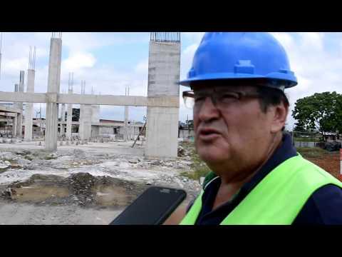 32% de avance tiene la construcción del Mercado de Chone