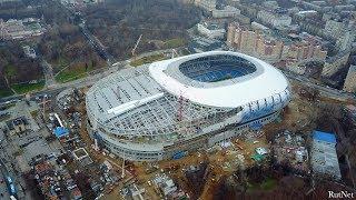 "Строящийся стадион ""Динамо"" в 4K"