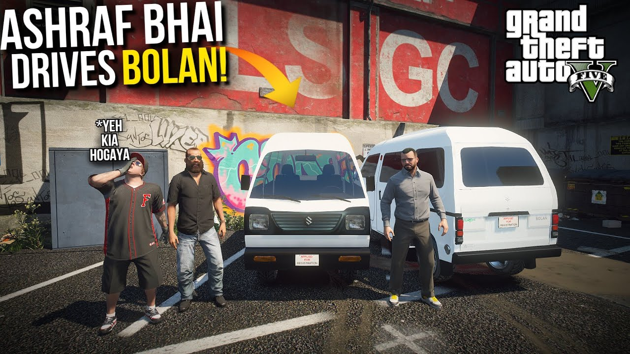 ASHRAF BHAI DRIVES 'SUZUKI BOLAN' WITH JIMMY! | GTA 5 MODS PAKISTAN