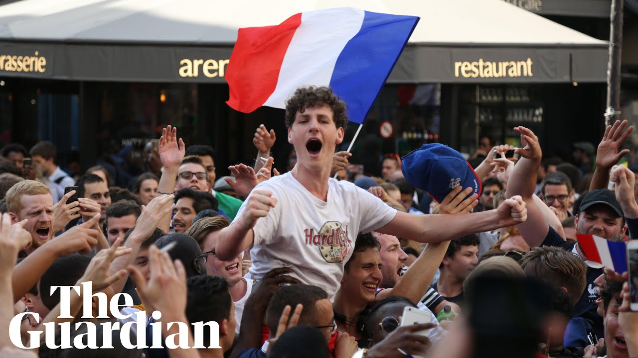 France fans celebrate reaching World Cup semi-final with win over Uruguay