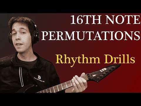 Rhythm Lesson for Metal Guitar - Counting 16th note variations