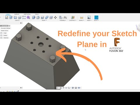Redefine Sketch Plane in Fusion 360 thumbnail